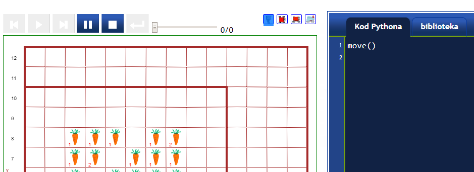 Warsztaty: Sterowanie robotem na ekranie - wersja Python dla nauczycieli klas 7-8 i wyżej.