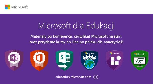 Materiały od Microsoft